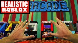 Realistic Roblox - STUCK IN AN ARCADE GAME IN ROBLOX! ( Roblox Arcade Obby)