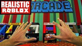 Roblox realista-preso em um jogo de ARCADE em ROBLOX! (Roblox arcade Obby)