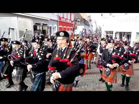 Homburg Schotten 2016 Scottish Ecossais Musik Kapelle Music Marktplatz Dudelsack