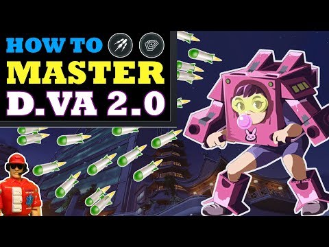 Overwatch - How to Play the New D.Va (Micro Missiles & Nerfed Defense Matrix)