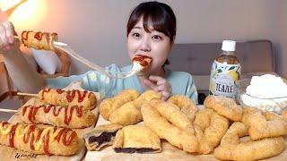 파삭파삭 찹쌀꽈배기 쫀득한 치즈핫도그 고구마치즈도넛 먹…