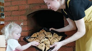 Simple food in a russian stove ASMR triggers