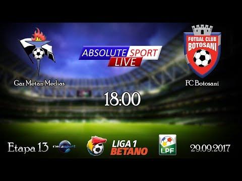 LIVE Gaz Metan Medias - FC Botosani - Etapa 13- Liga 1 - 29/09/2017