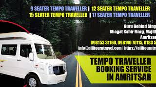 Tempo Traveller Booking Service In Amritsar | Gill Tour and Travel