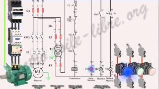 Démarrage direct sans automaintien moteur asynchrone