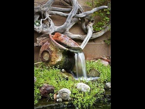 Фонтан своими руками в саду - YouTube