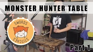 Monster Hunter Table: Wood Pallet Tabletop Diy [swords & Stitches] 1/4