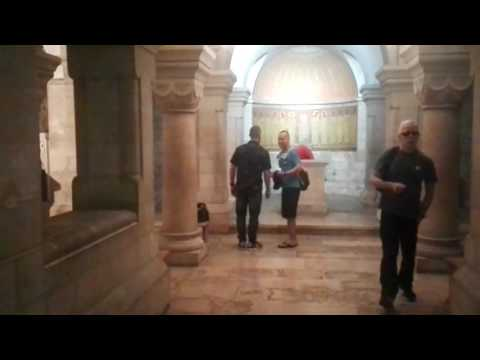 """Abbey of the Dormition Jerusalem - the place where the Virgin Mary died — or """"fell asleep"""""""