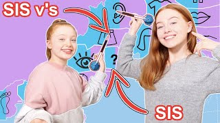 THROWING a DART at a MAP of PARTS and BUYING whatever it lands on Challenge | Ruby and Raylee