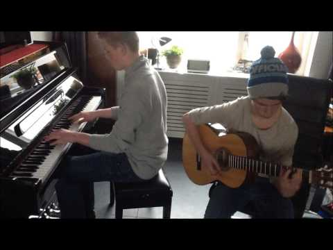John Legend - All of me [Piano/Guitar] cover by Sanderpiano1 and jim