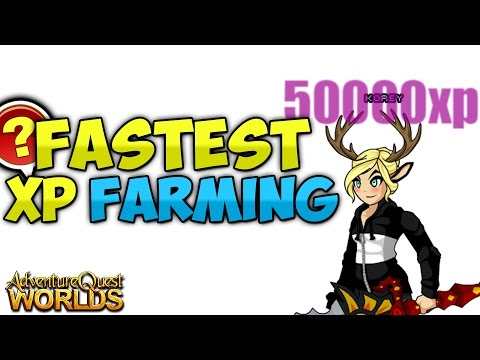Fastest Way to Farm XP and LEVEL UP!!! (Level 85 FAST) Non Member! AQW AdventureQuest Worlds