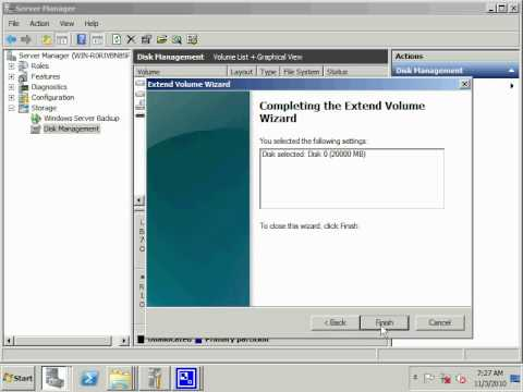How Extend Partition In Windows 2008