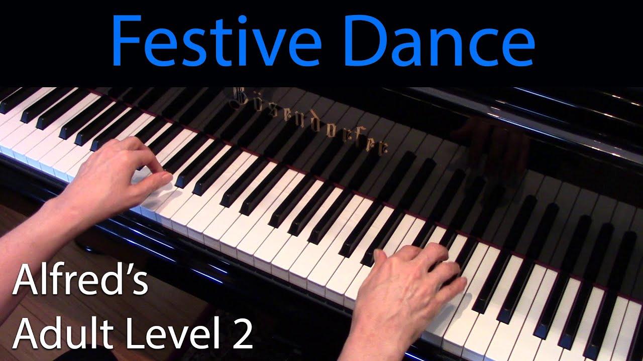 Festive Dance Early Intermediate Piano Solo Alfreds Adult Level 2