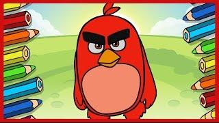 Рисуем Энгри Бердз. Ред. Red. Draw Angry Birds. Злые птички.(Как нарисовать Реда из мультфильма Энгри Бердз (Angry Birds)? Смотрите новое видео и рисуйте с нами! Заходите..., 2016-06-16T16:24:51.000Z)