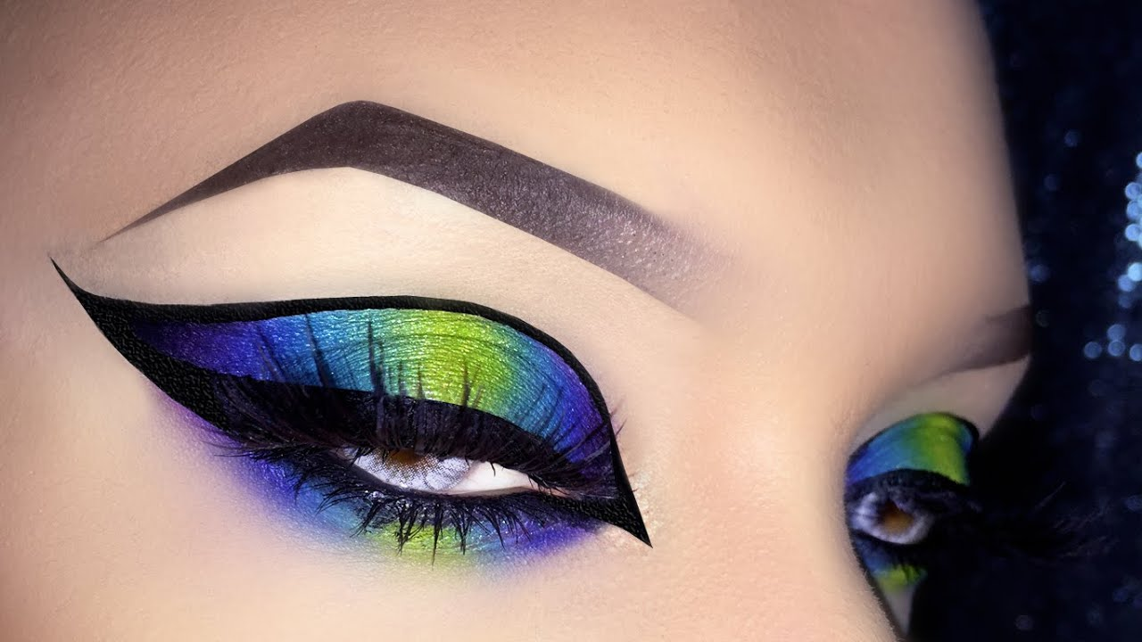 Sexy Neon Exotic Colorful Cat Eye Arabic Makeup Tutorial Using