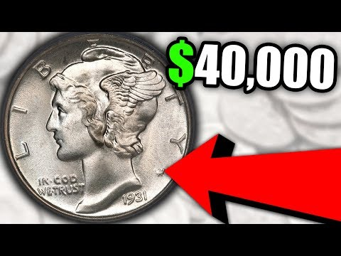 EXPENSIVE SILVER DIMES!! 1931 MERCURY DIME COIN VALUES