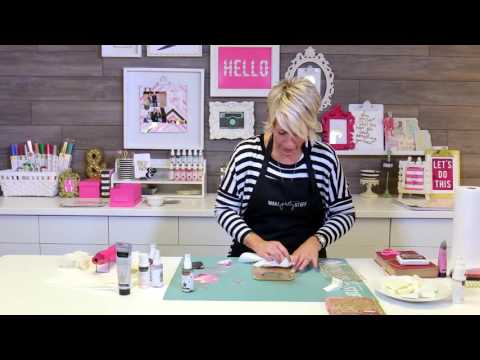 How To Create A Mixed Media Album Cover Lesson 1 Heidi Swapp Youtube