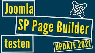 Joomla SP Page Builder testen (Update 2021)