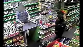 CCTV footage of Halloween shop shooting in Plaistow, east London