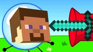 BFDI but every time someone gets hurt the minecraft hurt sound plays