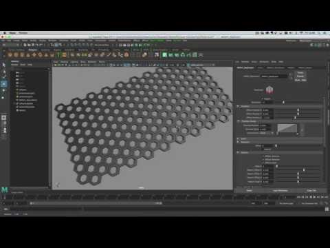 Maya 2017 - Modelling repeating patterns with MASH