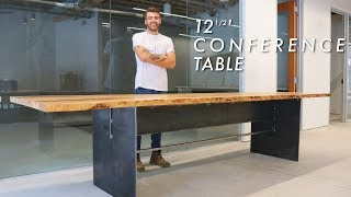 Building a Giant 12' Live Edge Conference Table // Woodworking