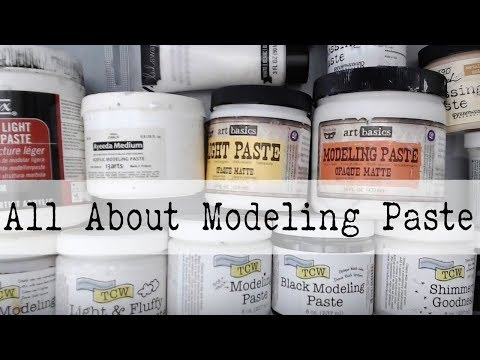 Beginner Mixed Media--All About MODELING PASTE--What is MODELING PASTE- How to Use it?
