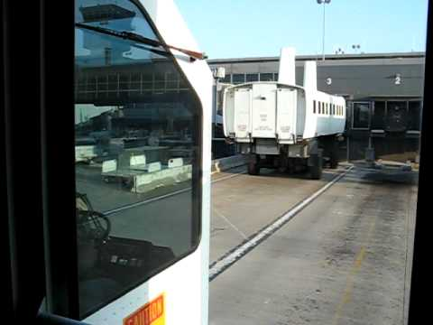 Dulles International Airport Mobile Lounge Ride - YouTube