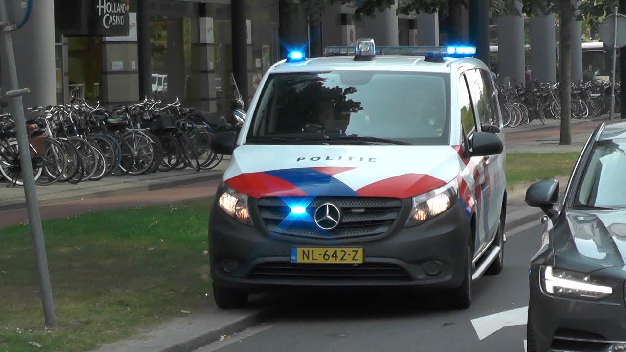 Mercedes Vito Politie OBT Rotterdam R&R met spoed door het verkeer! #1151