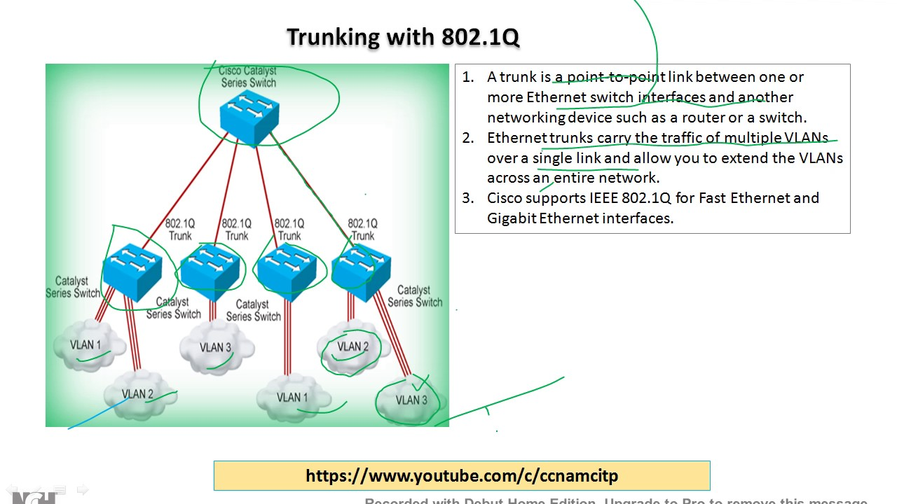 Trunking !! Trunking with 802.1Q !! Trunk Port !! What is ...