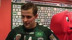 Flash-Interview nach dem Spiel gegen den THW Kiel