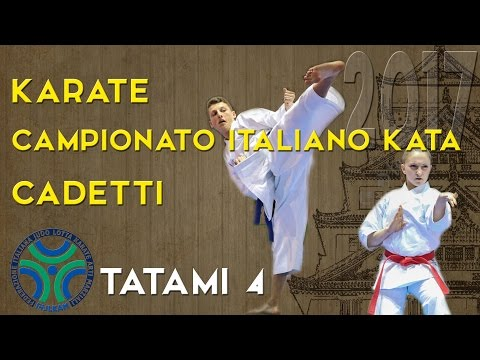 Karate Campionato Italiano Cadetti di Kata 2017 - TATAMI 4