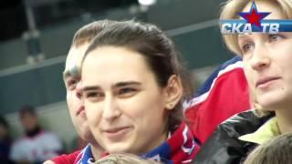СКА ТВ  герои сериала Молодежка на матче СКА