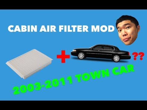 2003 2011 Lincoln Town Car Adding A Cabin Air Filter