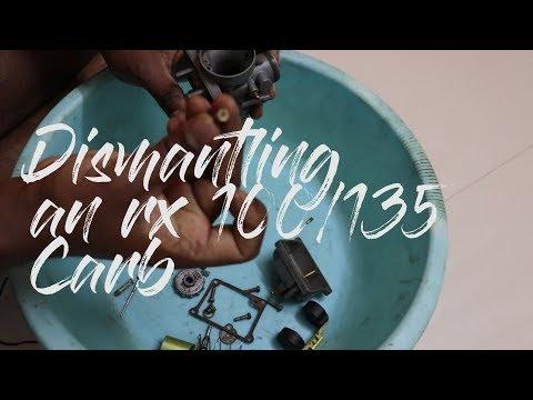 Dismantling a Yahama rx 100/135 carburetor to bits