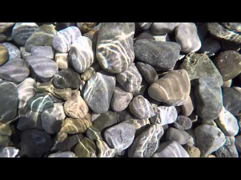 Water sun glitter on rocks - HD stock footage #38