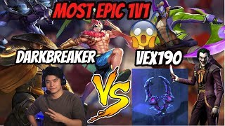 MOST EPIC 1v1 MATCH VS VEX190 | Who will win???! | Arena of Valor