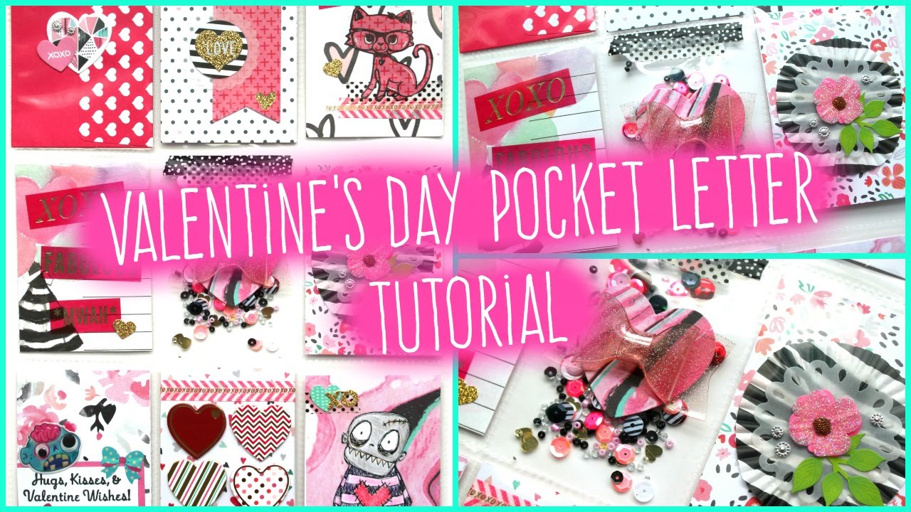 Valentines Day Pocket Letter Tutorial  11   YouTube
