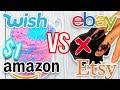 $1 WISH SLIME VS $1 EBAY SLIME VS $1 AMAZON SLIME VS $1 ETSY SLIME! Which one is Worth it?!?