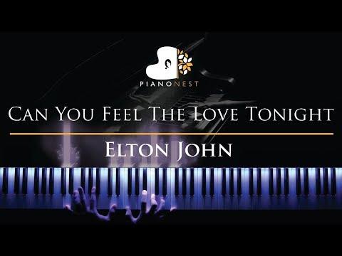 Elton John - Can You Feel The Love Tonight - Piano Karaoke  Sing Along Cover with