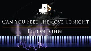 Elton John - Can You Feel The Love Tonight - Piano Karaoke / Sing Along Cover with Lyrics