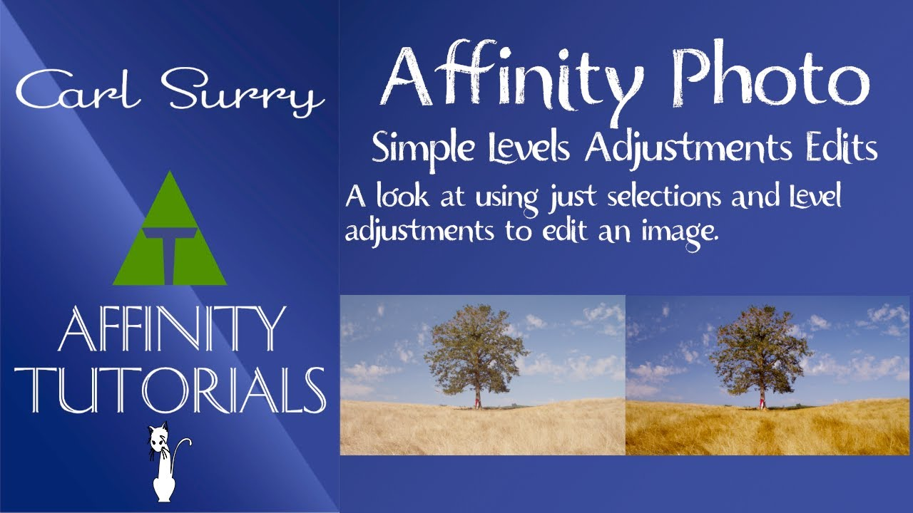 Affinity Photo - Simple Level Adjustments Edits
