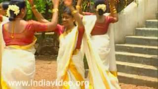 Thiruvathirakali, song, ritual, folk dance, Hindu festival, Lord Shiva, Parvati, Kerala, India