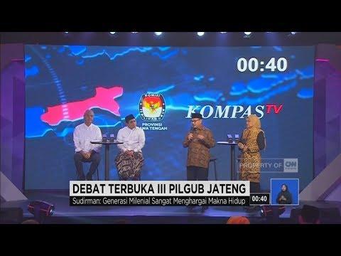 Debat Final Pilgub Jateng Segmen 2: Pancasila Ala Generasi Millenial
