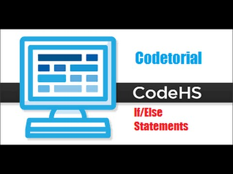 Codetorial If/Else statements #11 by Code hs