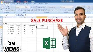 Sale Purchase Stoke manege in Excel Sheet