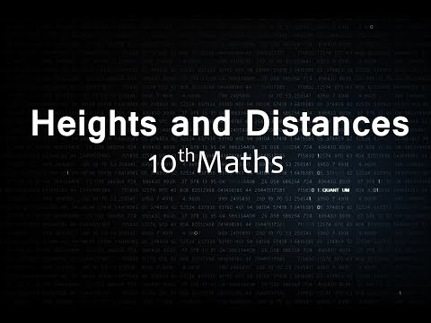 Heights and Distances : CBSE Class 10 X  Maths