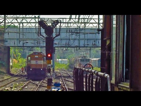 Pune Departure | Parallel Crossing and Camera.... | Indian Railways
