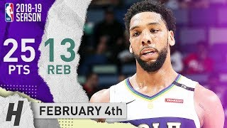 Jahlil Okafor Full Highlights Pelicans vs Pacers 20190204 - 25 Points 13 Reb