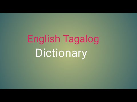 English Tagalog Dictionary